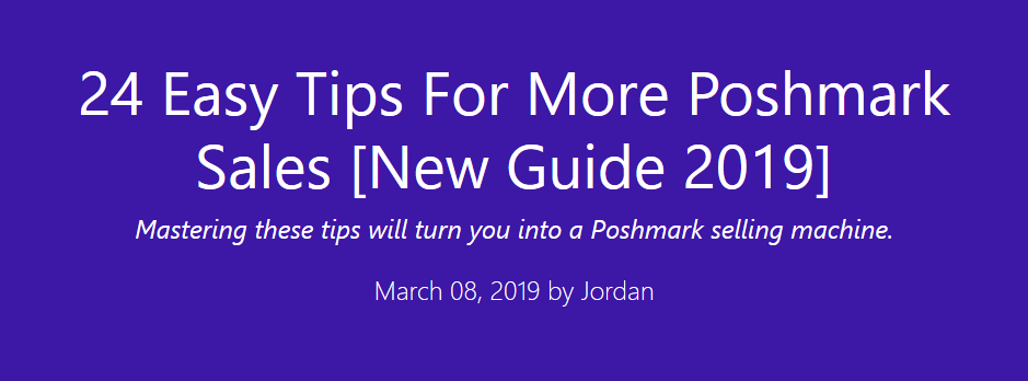 Poshmark Tips Article Header